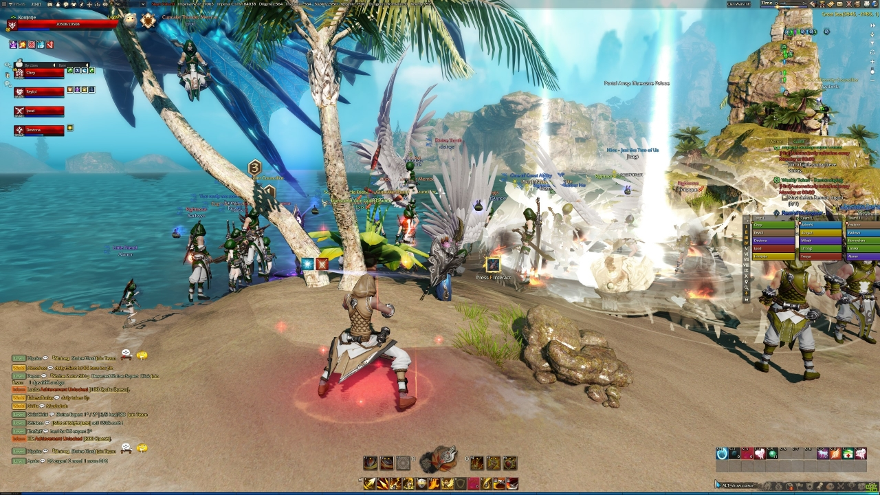 Cupcake at Palm Island grouping up for PVP